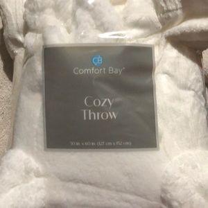 New white cozy soft fluffy  50x60 throw